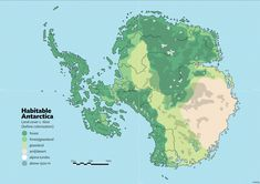 Habitable Antarctica: Pre-colonization land cover by schreibstang Dream Fantasy, Fantasy Castle, Fantasy Map, Fantasy Places, Fantasy World, Imaginary Maps, Rpg Map, World Geography, Alternate History