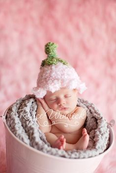 Pink Bell Hat Baby Newborn Crochet by BabiesBugsAndBees on Etsy, $13.99