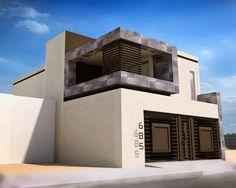 Fachada de casa moderna y contemporanea