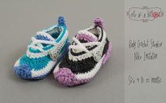 (4) Name: 'Crocheting : Cute as a button Crochet Baby Sneaker