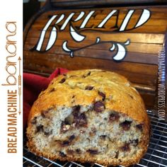 Easy Bread Machine Banana Bread with Chocolate Chips
