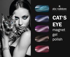 #cat #eye #nails #magnet #gele