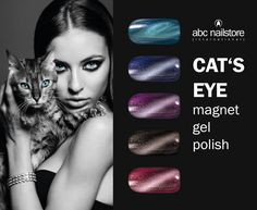 #cat #eye #nails #magnet #gele