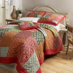 For Grace's room-- love it with small print sheets and a white blanket. Maya Quilt and Sham.
