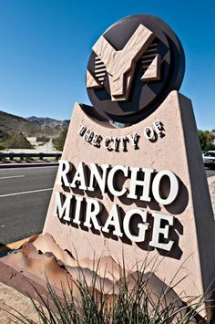 The City of Rancho Mirage sign