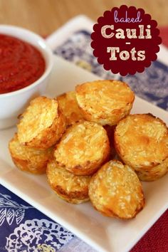 Baked Cauli-Tots recipe and DIY tutorial.  You won't believe these  healthy little tots are made with Cauliflower.  Check out how to make them for your family!