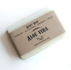 Aloe Vera Soap - Sensitive Skin Soap, All Natural Soap, Unscented Soap, Vegan Soap, Handmade soap, Cold Process Soap