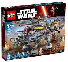 LEGO Star Wars 75157 Captain Rexs AT-TE 972pcs NEW IN FACTORY SEALED BOX.