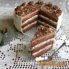 Malinasta čoko fantazija - Kuhinja i Recepti Torte Recepti, Kolaci I Torte, Bakery Recipes, Dessert Recipes, Desserts, Cake Cookies, Cupcake Cakes, Rodjendanske Torte, Custard Cake