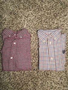 LOT of 2 Toddler Boy 3T Button Down Long Sleeve Dress Shirts Chaps Gymboree EUC #Gymboree #Chaps #ButtonDown #DressShirt #Preppy