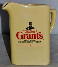 William Grant's FamilyReserve Finest Scotch Whisky Water Jug Excellent Condition