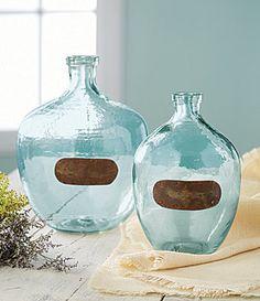 $28-$45  Farmhouse Vintage Glass Vases. Two different sizes.