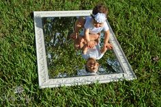 baby mirror photography