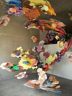 Suspended Cloud Paintings by Joris Kuipers