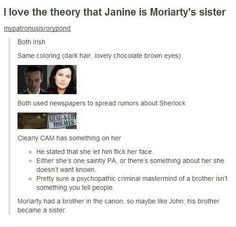 I personally don't believe that Moriarty is back. I think someone who loves/idolizes him is fooling the media to get back at Sherlock. This theory is supported by the theory that Janine is M's sister. Think about it: Sherlock pissed her off, but perhaps she still loves him. Either way, she could easily use Moriarty's likeness to keep Sherlock in London.