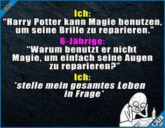 Zerstört von einer 6-Jährigen x.x #Potterliebe #mindblown #lustige #Sprüche #Jodel #Statusbilder #Humor