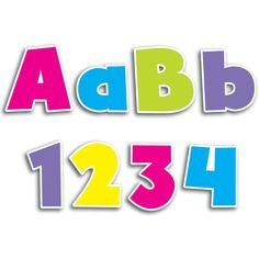 BOLD BRIGHTS 4IN DESIGNER LETTERS