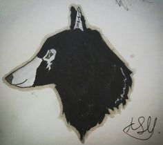 My wolf oc, Aadoulf. No repins! Drawn by Echo Bravo.