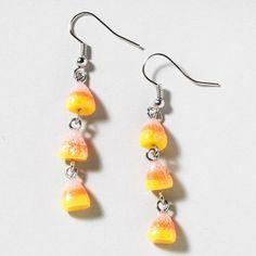 How sweet: glittery Candy Corn Drop Earrings