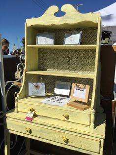 This was a pretty cool desk and shelf for sale (sold by the time we'd arrived) at Shabby Restore (www.shabbyrestore.com) today at the Treasure Island Flea in San Francisco. #shabby #restore