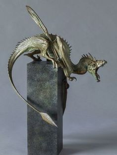 Bronze Dragon Sculpture (Firedrake) by Nick Bibby. A hyper-realistic scale sculpture of a Dragon. If Dragons were real, they would look like this! Dragon Statue, Dragon Art, Dragon Tales, Bronze Sculpture, Sculpture Art, Metal Sculptures, Abstract Sculpture, Fantasy Creatures, Mythical Creatures