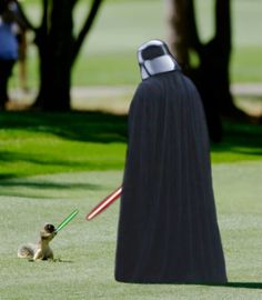 """Farker p4p3rm4t3 showed this squirrel fighting against the dark side in the Fark contest """"Photoshop this stubborn squirrel"""""""