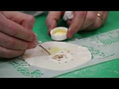 Painting Stencils onto Cookies - YouTube