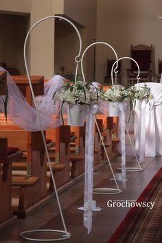 dekoracja kościoła Człuchów ślubna alejka
