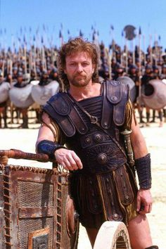 "Sean Bean as Odysseus in 'Troy' (a movie either saved or ruined for me when a woman two rows in front gasped, ""OH MY GOD!"" when the Famous Thing happened involving the Famously Named Horse, a. Troy Movie, Movie Tv, Brad Pitt Troy, City Of Troy, Eric Bana, Julie Christie, Sean Bean, Trojan War, Troy"