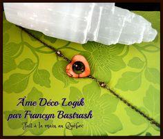 Bracelet béguin, cœur de nacre café , cristal de verre café, cristaux bronze, fête des mères, cadeau d'anniversaire, mariage, noël, fête