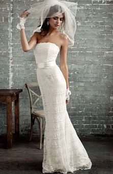 Love this dress.....got married in it on the beach (minus the veil) Perfect! Galina collection....