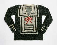 Sweater | House of Schiaparelli | Paris | Summer 1928 | hand-knitted wool | Philadelphia Museum of Art | Accession #: 1952-9-1