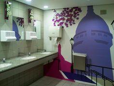 Themed toilets at Paris CDG Airport by Karen V Bryan, via Flickr
