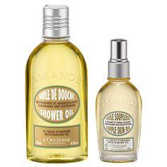 This set contains:-Almond Supple Skin Oil 3.4 fl.oz.-Almond Shower Oil 8.4 fl.oz.