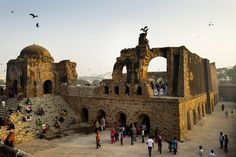 People have been coming to Firoz Shah Kotla to leave written notes and offerings for Djinns in the hopes of getting wishes granted since the late 1970's.  Feroz Shah Tughlaq (r. 1351–88), the Sultan of Delhi, established the fortified city of Ferozabad in 1354, as the new capital of the Delhi Sultanate, and included in it the site of the present FerozShahKotla. Simon de Trey-White, India