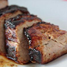 Honey butter glazed pork tenderloin