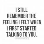 i still remember the feelings