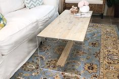 How To Build a Coffee Table with Acrylic and Wood-DIY Video with all the details to build your own!
