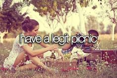 Have a legit picnic.  Oh, I like this one!  Fall picnic with fire pit - going on my bucket list.