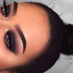 Glam Makeup, Makeup Inspo, Makeup Inspiration, Beauty Makeup, Hair Makeup, Eye Makeup Steps, Makeup Eye Looks, Black Smokey Eye Makeup, Black Eyeshadow Makeup