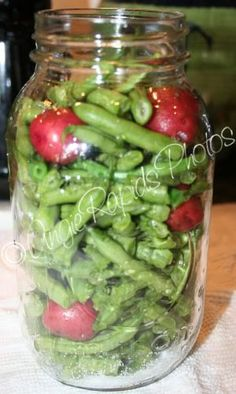 Canning green beans with the new potatoes in them. I am sooooo glad I found this. I am going to try.