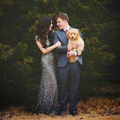 family christmas card idea 2015, save the date idea 2015, couple photo with dog