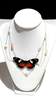 real butterfly wing necklace. The Dream butterfly wing jewelry DREDORI