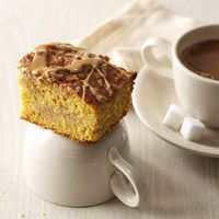 Pumpkin Latte Coffee Cake - add one cup of Nestle Tollhouse mini morsels, or one cup of Heath English Toffee Bits to mix for a little extra sweetness.