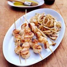 Grilled Sea Scallops and Fennel Recipe - Easy Grilling Recipes - Delish.com