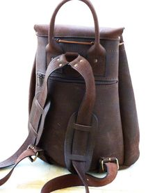leather craft ideas | Leather craft ideas / Distressed Leather Backpack