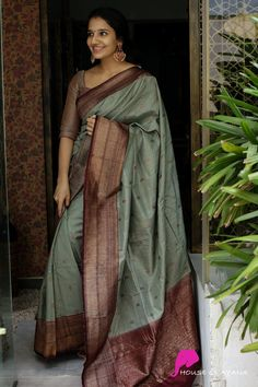 Latest Silk Sarees, Indian Silk Sarees, Ethnic Sarees, Banaras Sarees, Tussar Silk Saree, Cotton Saree, Dress Indian Style, Indian Wear, Indian Outfits