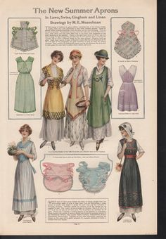 Image result for 1911 Ladies Home Journal Print - Girl's Afternoon Tea Aprons; Actresses Dresses