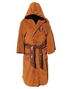 Amazon.com  Star Wars Mens Fleece Graphic Long Robe Brown O S  Clothing c7f41763a4ad