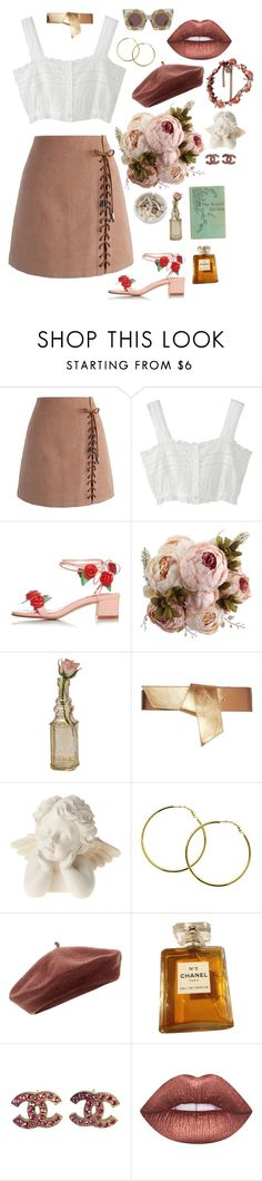 """floral autumn"" by pixiekeen ❤ liked on Polyvore featuring Chicwish, Ash, Cultural Intrigue, Maison Boinet, Melissa Odabash, Accessorize, Chanel and Lime Crime"